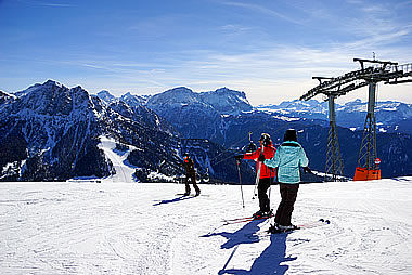 Skiing on the Kronplatz Plan de Corones